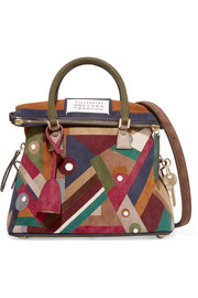 5AC mini patchwork suede shoulder bag