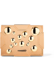 Space Bubbles gold-plated box clutch