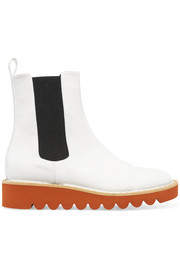 Stella McCartney Faux patent-leather Chelsea boots