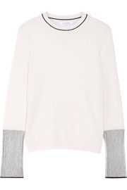 La Ligne Ribbed knit-trimmed cashmere sweater