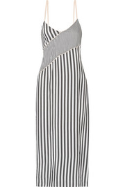 La Ligne Striped voile midi dress