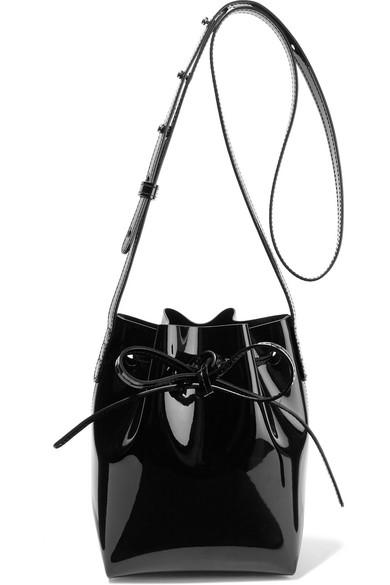 Mansur Gavriel. Mini Mini patent-leather bucket bag