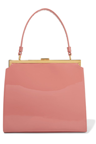 Mansur Gavriel - Elegant Patent-leather Tote - Antique rose