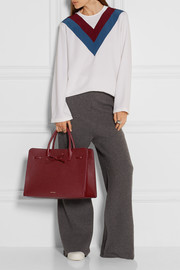 Sun large textured-leather tote