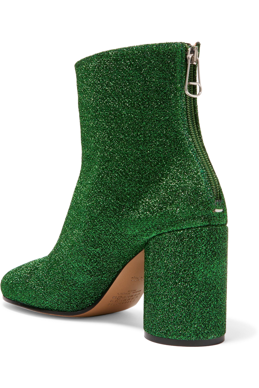 Maison Margiela Textured-lamé ankle boots