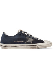 V-Star 2 leather-trimmed denim sneakers