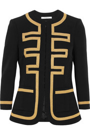 Embroidered jacket in black wool