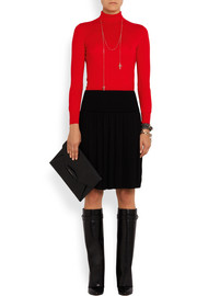 Turtleneck sweater in red wool