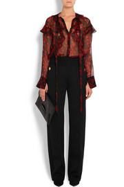 Givenchy Grain de poudre cotton-blend wide-leg pants