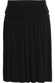 Givenchy Pleated mini skirt in black jersey