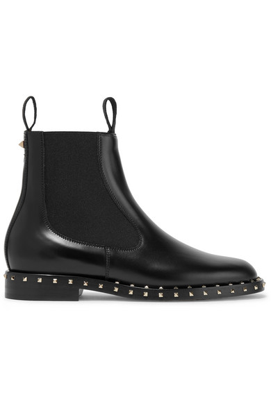 Valentino Leathers Studded leather Chelsea boots
