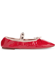 Valentino Rockstud patent-leather ballet flats