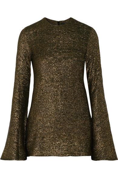 Ellery - Inception Metallic Knitted Sweater - Gold