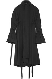 Inez crepe shirt dress