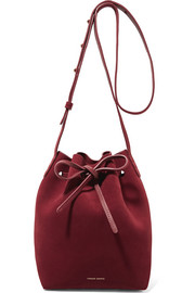Mini suede bucket bag