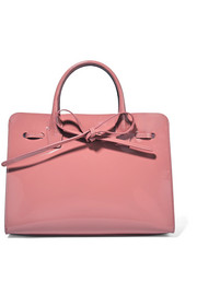 Sun mini patent-leather tote