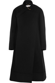 Oversized wool and angora-blend felt coat