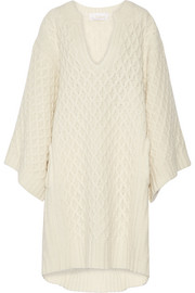 Chloé Oversized cable-knit wool sweater dress