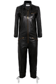 Chloé Lace-up leather jumpsuit