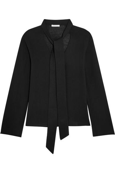 Chloé - Pussy-bow Merino Wool Sweater - Black