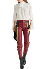 Chloé Striped leather straight-leg pants