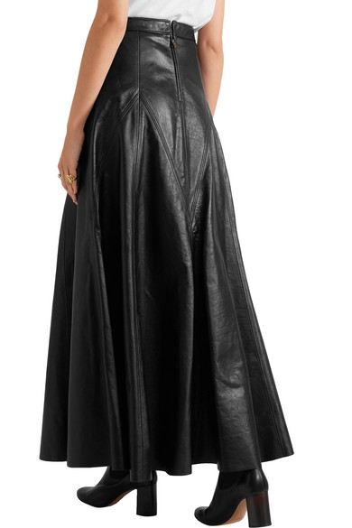 chlo 233 leather maxi skirt net a porter