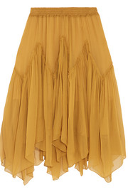 Chloé Silk-crepon skirt