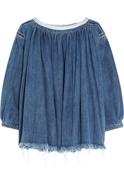 Chloé Frayed denim top