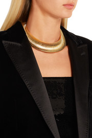 Saint Laurent Gold-tone choker