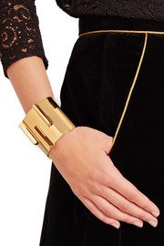 Saint Laurent Gold-tone cuff