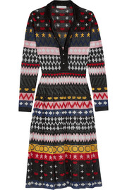 Mary Katrantzou Cecile metallic jacquard-knit dress