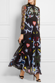 Mary Katrantzou Mizar printed georgette gown