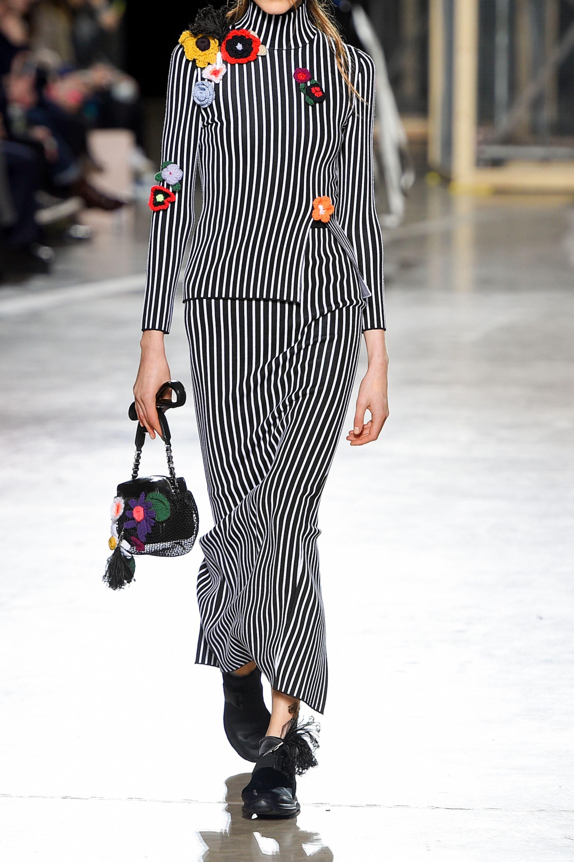 Christopher Kane Stripes & Flowers stretch-jersey maxi skirt