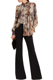 Christopher Kane Floral-print silk-georgette blouse