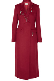 Christopher Kane Embellished wool coat