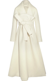 DELPOZO Belted wool and mohair-blend coat