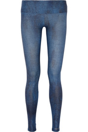 I Am Comfortable printed stretch-jersey leggings