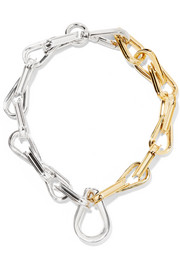 Ellipse gold and silver-plated choker