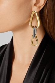 Ellipse gold and silver-plated earrings