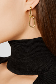 Wire gold-plated earrings