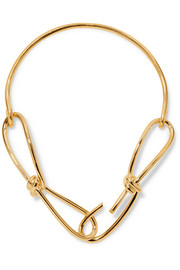 Wire gold-plated necklace