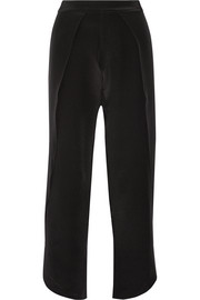 Toulon cropped silk wide-leg pants