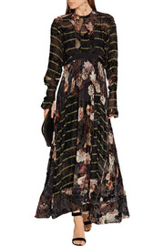 Preen by Thornton Bregazzi Audrey printed devoré silk-blend chiffon maxi dress