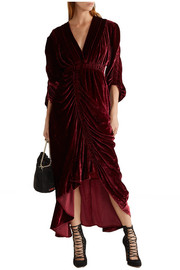 Preen by Thornton Bregazzi Rebecca ruched velvet dress