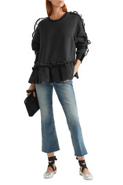 Preen by Thornton Bregazzi Enid ruffle-trimmed cotton-terry sweatshirt