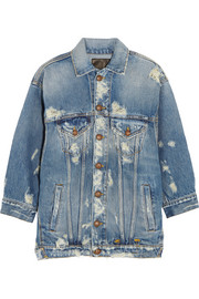 R13 Oversized distressed denim jacket