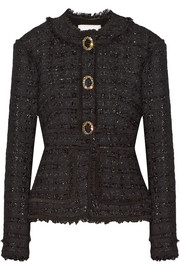 Karina metallic tweed peplum jacket