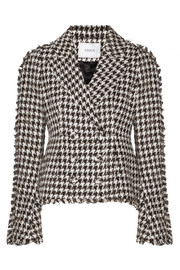 Marsha metallic cotton-blend tweed jacket