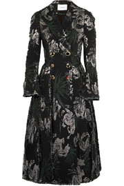 Erdem Baxter double-breasted metallic jacquard coat
