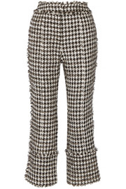 Verity metallic cotton-blend tweed straight-leg pants